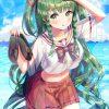 【非・微エロ】木曜日の緑髪美少女画像まとめ その47