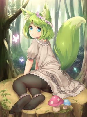 【非・微エロ】木曜日の緑髪美少女画像まとめ その82