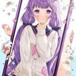 【非・微エロ】日曜日の紫髪美少女画像まとめ その85