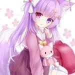 【非・微エロ】日曜日の紫髪美少女画像まとめ その121